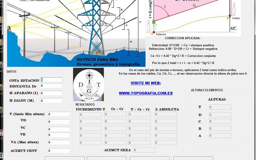 Software para cálculo de altura de torres en linea electrica.
