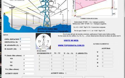 Software para cálculo de altura de torres electricas.